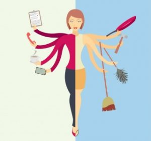 Juggling between home and office life