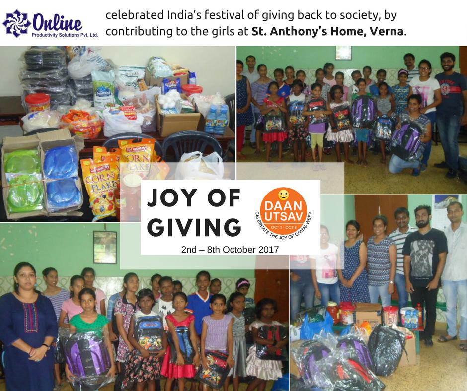 Celebrating the Joy of Giving Week