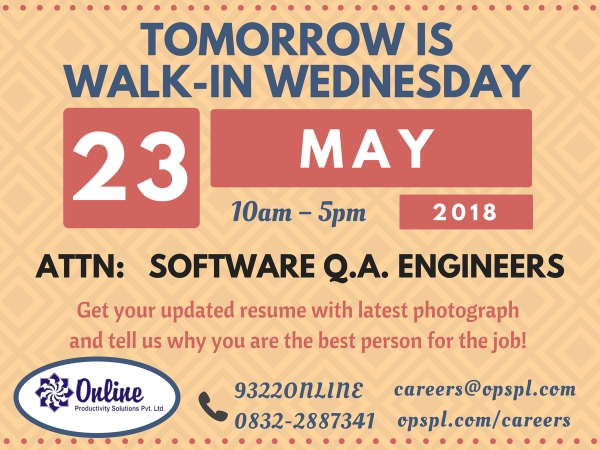 Tuesday Teaser - Software Q.A. Engineers, 23rd May
