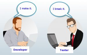 Relationship between a developer and a tester